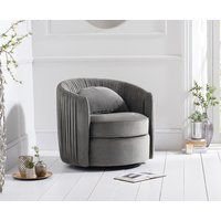 Read more about Sarah grey velvet swivel chair