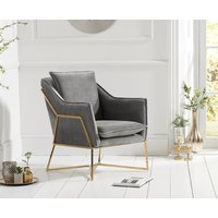 Read more about London grey velvet accent chair
