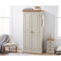 Read more about Abel oak and stone painted two door wardrobe