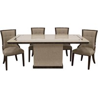 Product photograph showing Alfredo Dining Table And Chairs - Brown 4 Chairs
