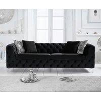 Amara Black Velvet 3 Seater Sofa