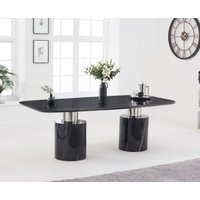 Antonio 220cm Black Marble Dining Table