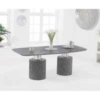 Product photograph showing Antonio 180cm Grey Marble Dining Table