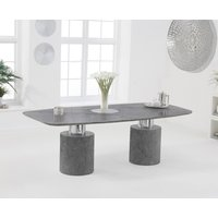 Antonio 220cm Grey Marble Dining Table