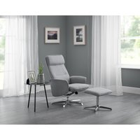 Read more about Alie grey linen swivel recliner chair