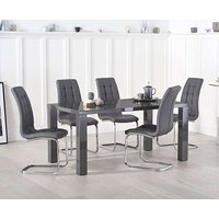 db4b151b69d7 Product photograph showing Ex-display Atlanta 160cm Dark Grey High Gloss  Dining Table With 4