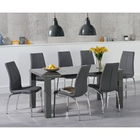 Read more about Atlanta 160cm dark grey high gloss dining table with cavello chairs