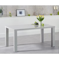 Read more about Atlanta 160cm light grey high gloss dining table