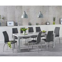 Read more about Atlanta 200cm light grey high gloss dining table with cavello chairs