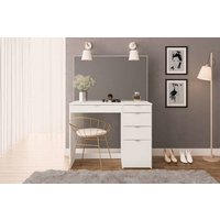 Product photograph showing Avi 5 Drawer Dressing Table In White