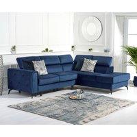 Avery Blue Velvet Right Hand Facing Corner Sofa Bed