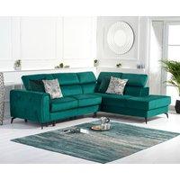 Avery Green Velvet Right Hand Facing Corner Sofa Bed
