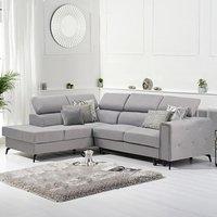 Avery Grey Linen Left Hand Facing Corner Sofa Bed