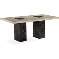 Product photograph showing Barletta 220cm Marble Effect Dining Table