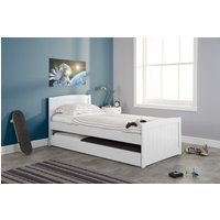 Nailah White Single Bed