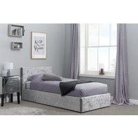 Natalia Steel Velvet Single Ottoman Bed