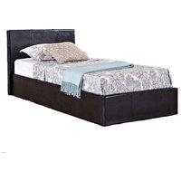Natalia Brown Single Ottoman Bed