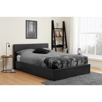 Product photograph showing Natalia Black Velvet Small Double Ottoman Bed