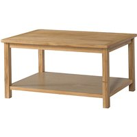 Bampton Oak Coffee Table with Shelf