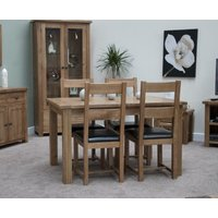 Read more about Bramley oak extending dining table with chairs - brown- 4 chairs