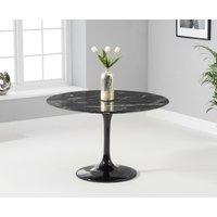 Brighton 120cm Round Marble Black Dining Table