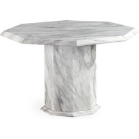 Product photograph showing Calacatta Octagonal Marble Dining Table 120cm