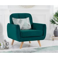 Product photograph showing Camila Green Velvet Armchair