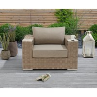 Product photograph showing Cardinal Taupe And Brown Wicker Garden Chair