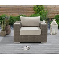 Product photograph showing Cardinal Grey Wicker Garden Chair