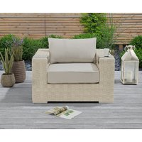 Product photograph showing Cardinal Ivory And Cream Wicker Garden Chair