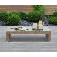 Cardinal Taupe and Brown Wicker Garden Coffee Table
