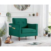 Product photograph showing Carla Green Velvet Armchair