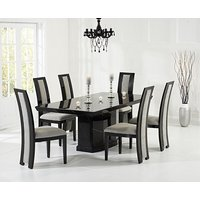 Read more about Carvelle 160cm black pedestal marble table with raphael chairs