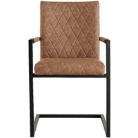 Kylo Tan Diamond Stitch Carver Chairs - Tan, 2 Chairs