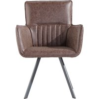 Poppy Brown Carver Chairs - Brown, 2 Chairs