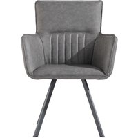 Poppy Grey Carver Chairs - Grey, 2 Chairs