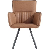 Poppy Tan Carver Chairs - Tan, 2 Chairs