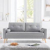 Chandler Grey Linen 3 Seater Sofa