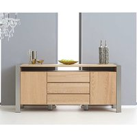 Product photograph showing Ex-display Chateau 180cm Oak And Metal Sideboard