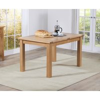 Product photograph showing Cheadle 120cm Oak Extending Dining Table