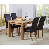 Read more about Cheadle 120cm oak extending dining table with albany chairs