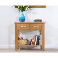 Product photograph showing Ex-display Cheadle 85cm Oak Console Table