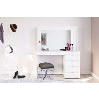 Product photograph showing Chlo 7 Drawer Dressing Table In White