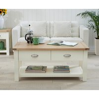 Product photograph showing Somerset Oak And Cream Coffee Table