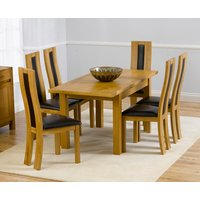 Product photograph showing Normandy 120cm Solid Oak Extending Dining Table With Toronto Chairs - Cream 4 Chairs