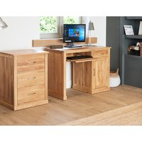 Read more about Rhone solid oak single pedestal computer desk