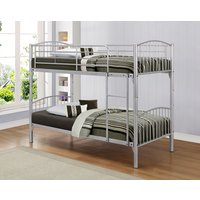 Product photograph showing Delaware Silver Bunk Bed