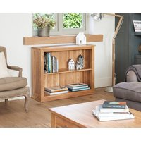 Product photograph showing Rhone Solid Oak Low Bookcase