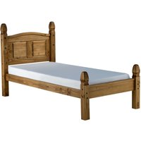 Corey Low End Waxed Pine Single Bed