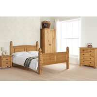 Product photograph showing Corey High End Waxed Pine King Size Bed